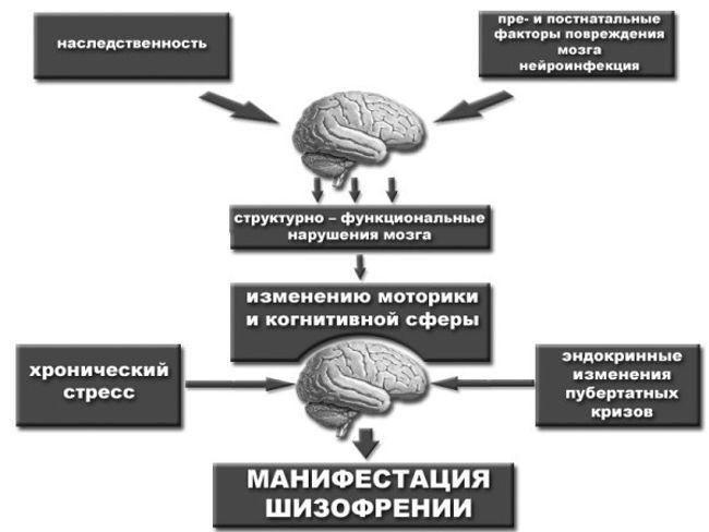 причины вялотекущей шизофрении