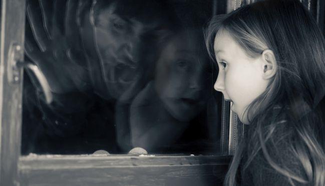 отражение в окне