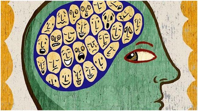 разные эмоции в голове