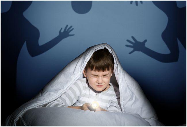мальчик, боящийся теней