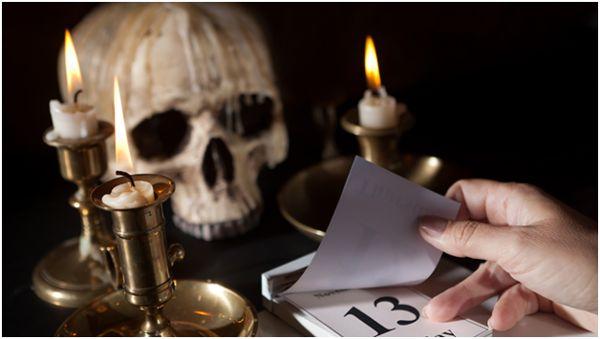 число 13 и череп