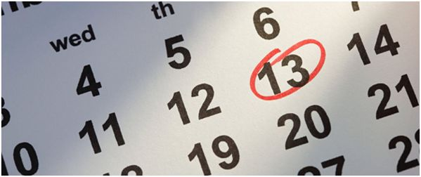 число 13 на календаре