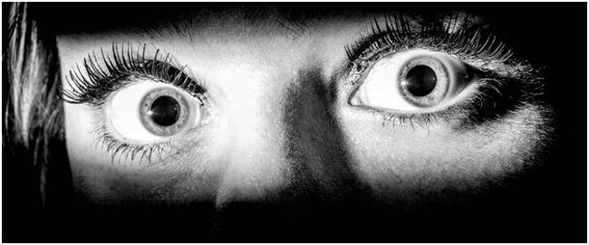 испуганные глаза