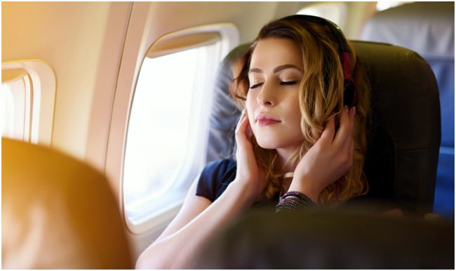релаксация в самолете