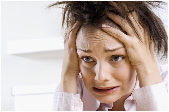 женщина с паническим страхом