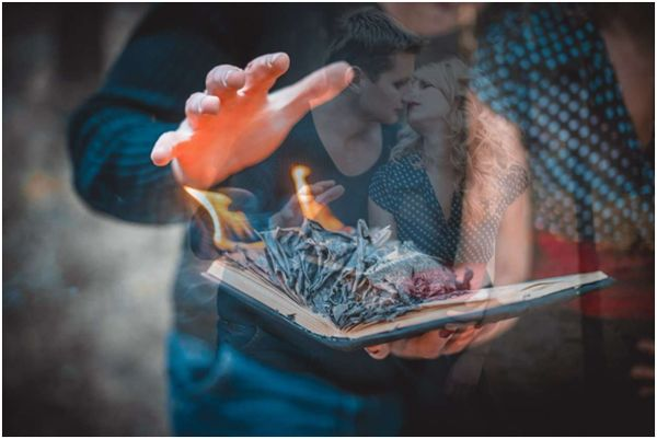 сжигание фотоальбома